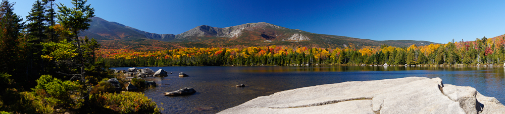 Sandy Stream Pond Toward Katahdin Panorama 2