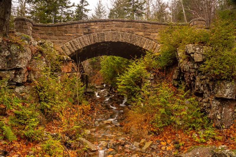 'chasm brook bridge', 'acadia national park', 'carriage roads'